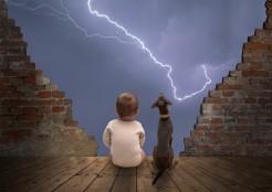 赤ちゃんと犬と雷i 04-26-03